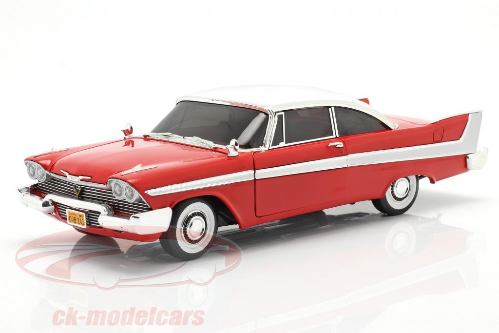 autoworld-1-18-plymouth-fury-ano-de-construccion-1958-pelcula-christine-1983-rojo-blanco-awss102/