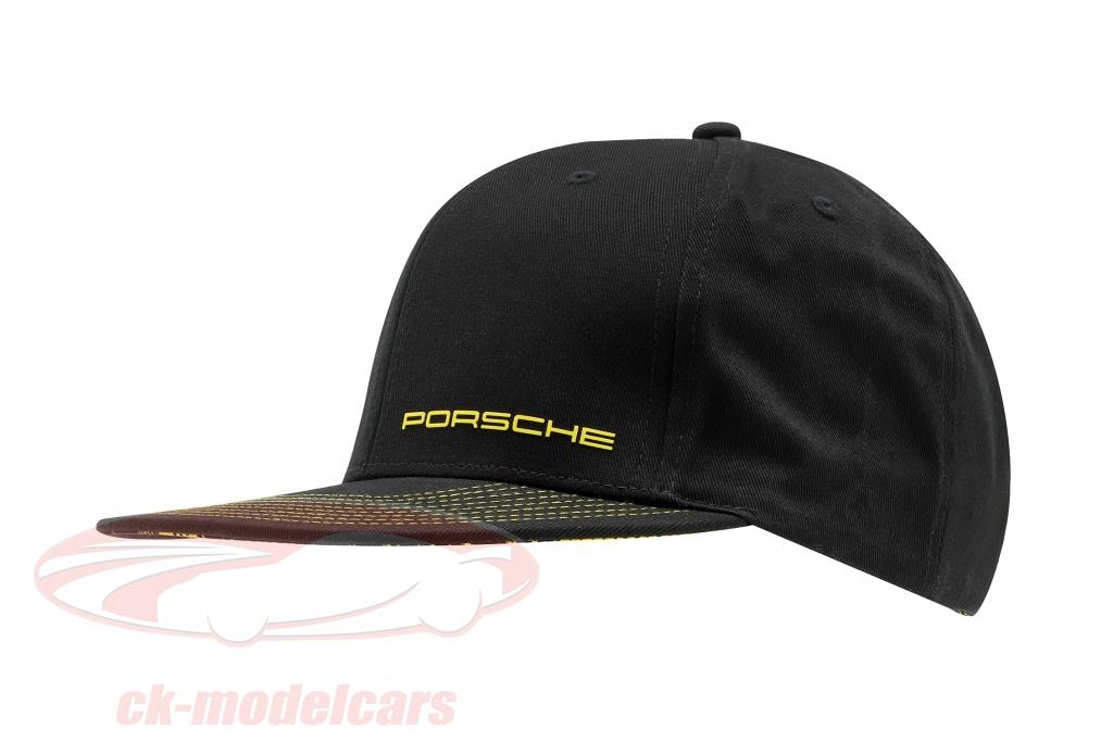 porsche-baseball-cap-718-cayman-gt4-clubsport-nero-giallo-wap3400010lcls/