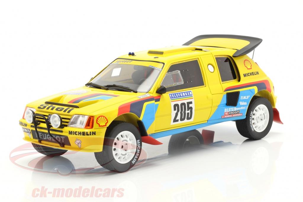 ottomobile-1-18-peugeot-205-t16-no205-winnaar-rallye-dakar-1987-vatanen-giroux-ot354/