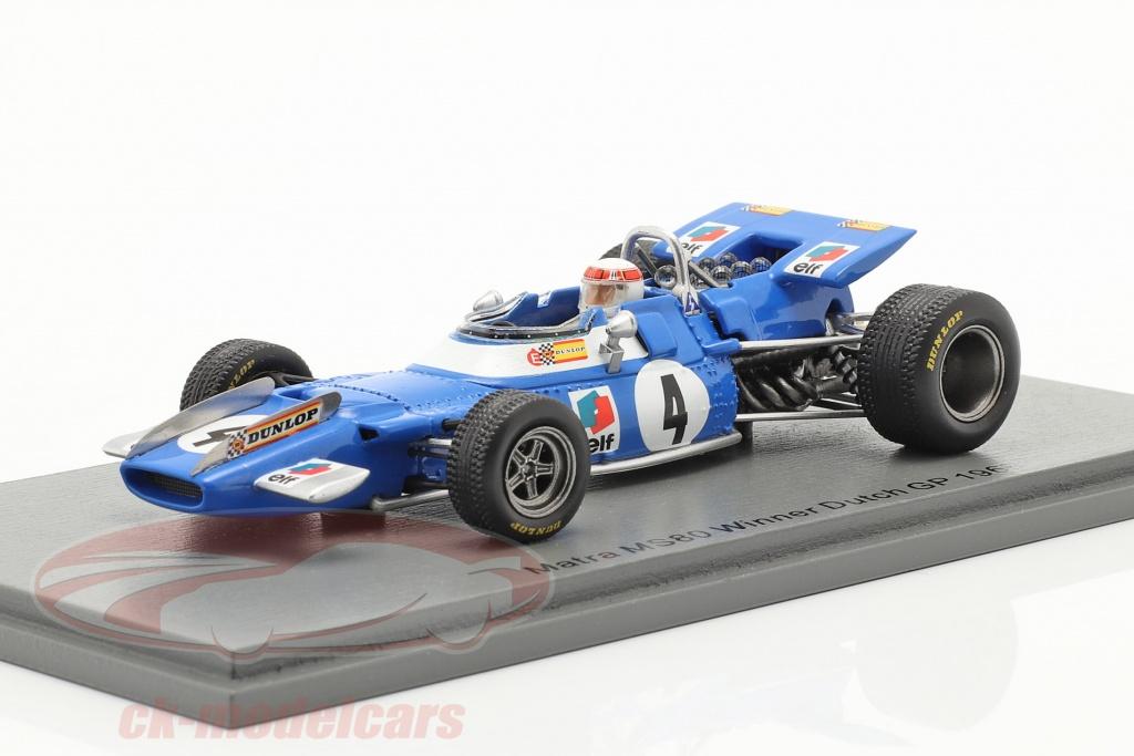 spark-1-43-j-stewart-matra-ms80-no4-vinder-hollandsk-gp-formel-1-verdensmester-1969-s7191/
