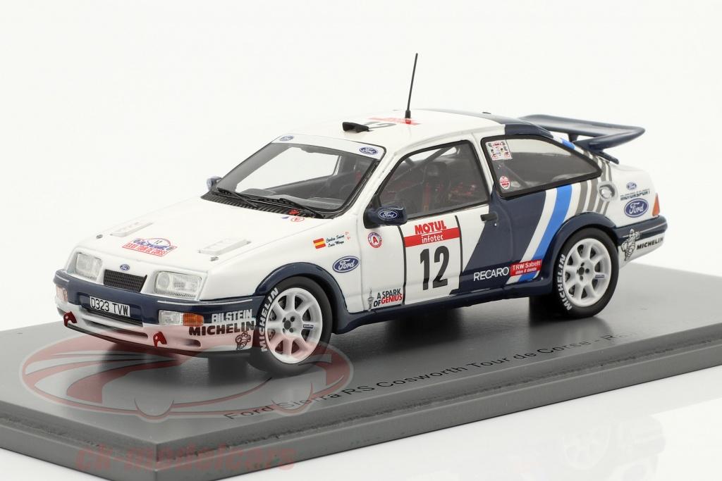 spark-1-43-ford-sierra-rs-cosworth-no12-quinto-rallye-tour-de-corse-1988-sainz-moya-s8706/