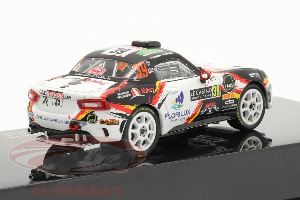 Fiat Abarth 124 Rally RGT Rallye Monte Carlo 2020 Luc Caprasse 1:43 IXO RAM 753