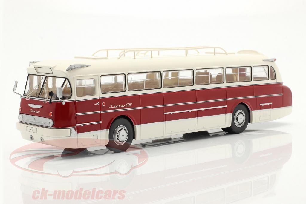 ixo-1-43-ikarus-66-autobus-anno-di-costruzione-1972-bianca-buio-rosso-bus025lq/