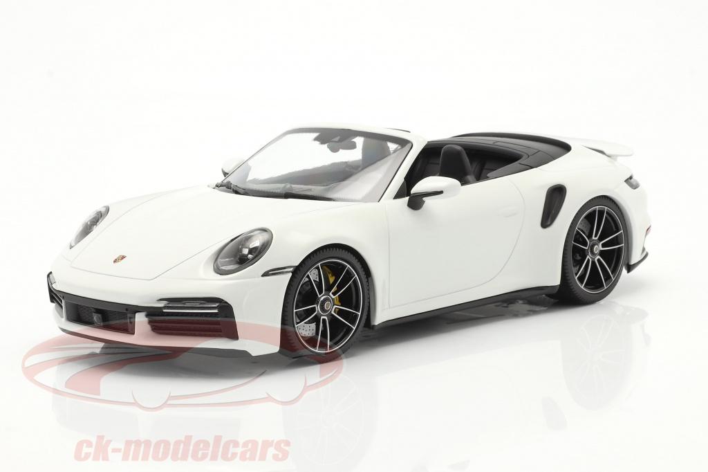 Minichamps 1 18 Porsche 911 992 Turbo S Cabriolet Year 2020 White 153069083 Model Car 153069083 4012138174245