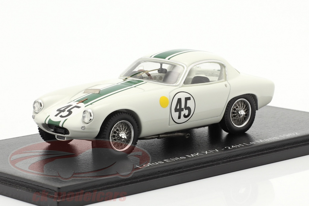 spark-1-43-lotus-elite-mk-xiv-no45-24h-lemans-1962-hunt-wyllie-gnist-s8211/