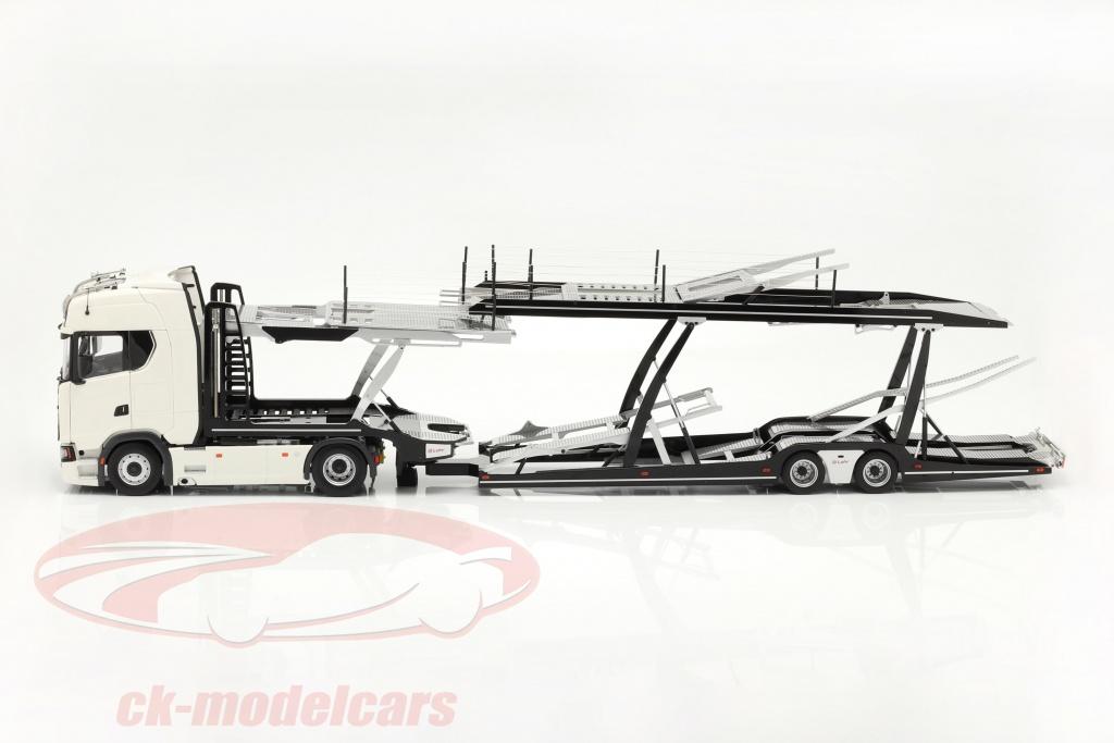 nzg-1-18-set-scania-v8-730s-blanco-con-lohr-transportador-de-coches-negro-plata-1019-40-971/