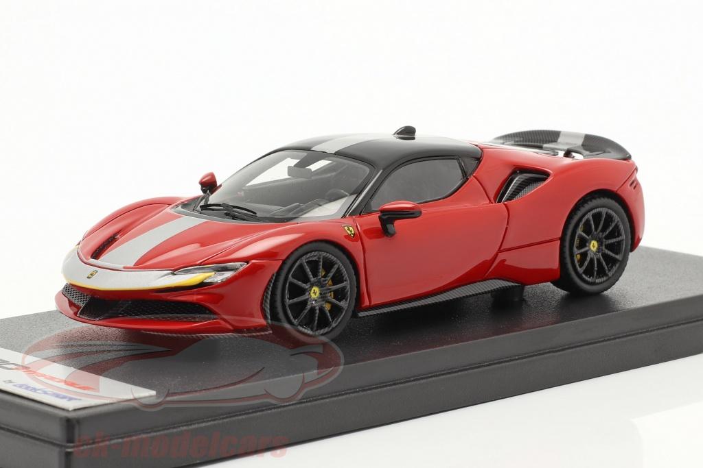 looksmart-1-43-ferrari-sf90-stradale-bouwjaar-2019-corsa-rood-zwart-ls504d/
