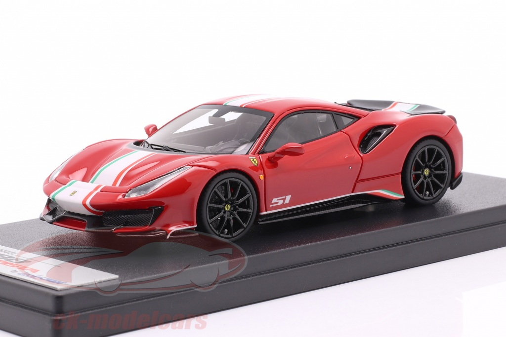 looksmart-1-43-ferrari-488-pista-piloti-no51-year-2019-corsa-red-ls488ppa/