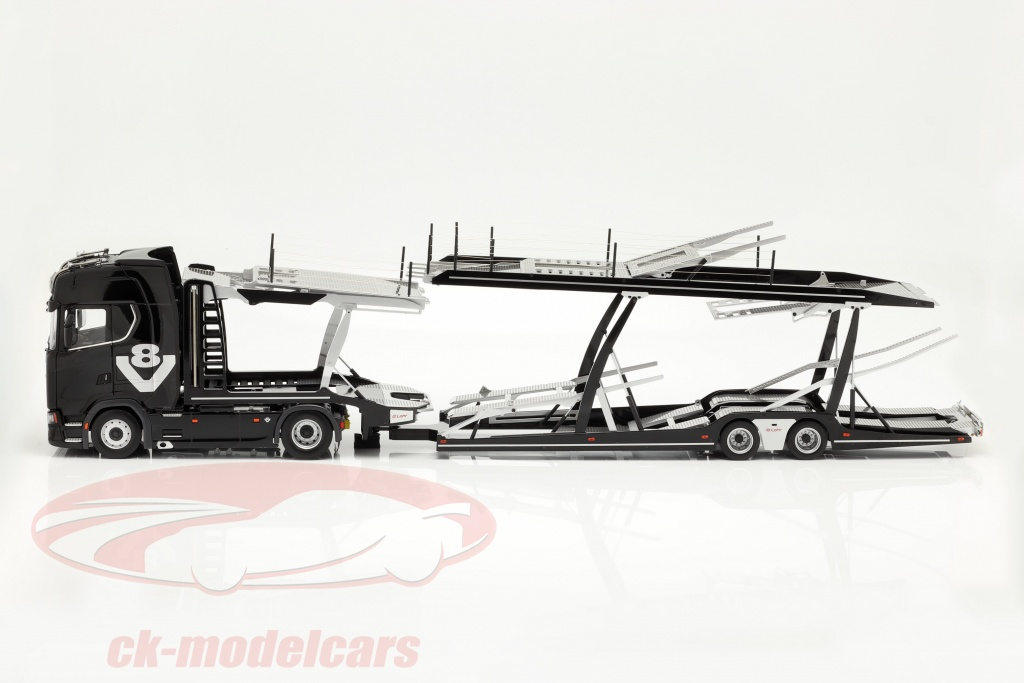 nzg-1-18-set-scania-v8-730s-negro-con-lohr-transportador-de-coches-negro-plata-1019-51-971/