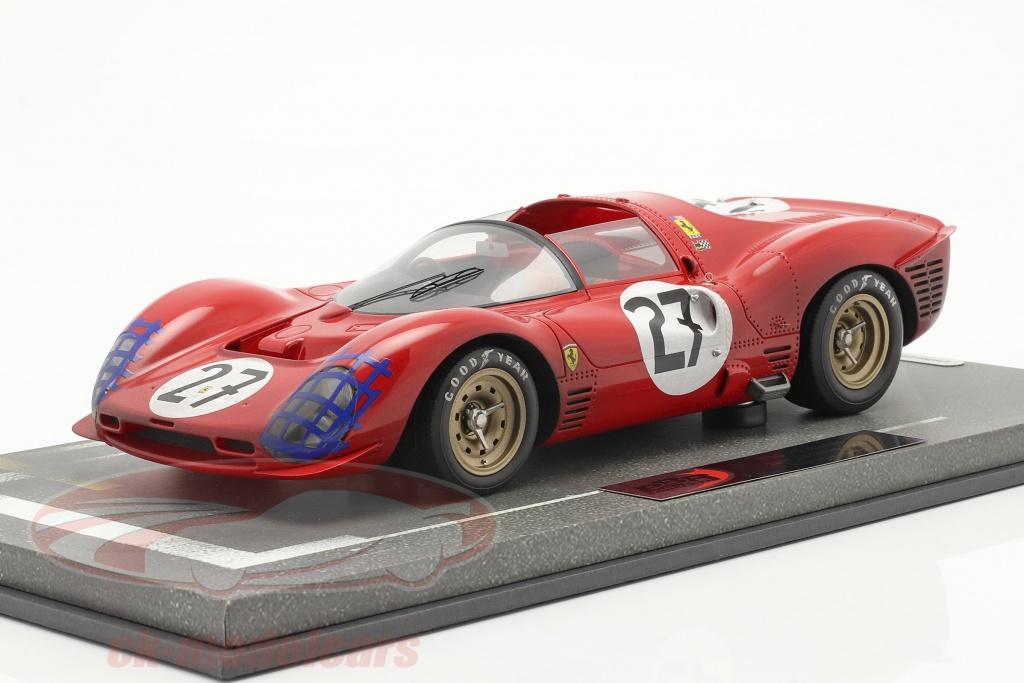 bbr-models-1-18-ferrari-330-p3-spyder-dirty-version-no27-24h-lemans-1966-bbrc1849adirty/