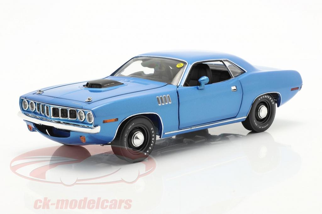highway-61-collectibles-1-18-plymouth-hemi-cuda-baujahr-1971-blau-metallic-highway61-hwy18025/