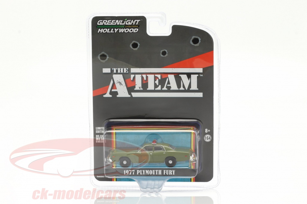 greenlight-1-64-plymouth-fury-1977-tv-series-the-a-team-1983-87-army-green-44865a/
