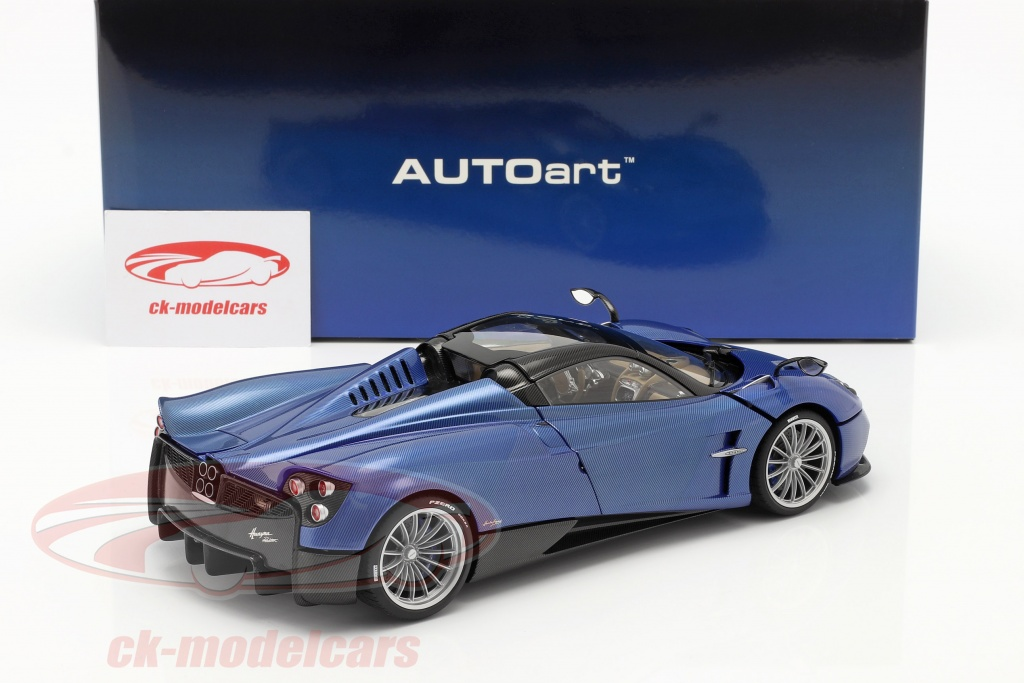 Autoart 1 18 Pagani Huayra Roadster Year 2017 Blue Carbon 78286 Model Car 78286 674110782868