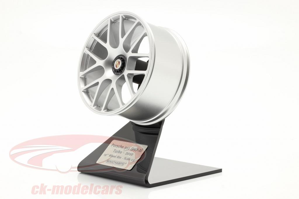minichamps-1-5-porsche-911-997-ii-turbo-2010-rand-19-inch-zilver-500601997/
