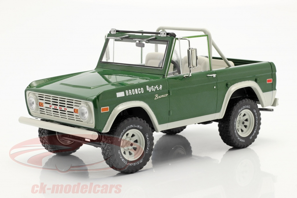 greenlight-1-18-ford-bronco-buster-1970-movie-smokey-and-the-bandit-1977-green-19084/