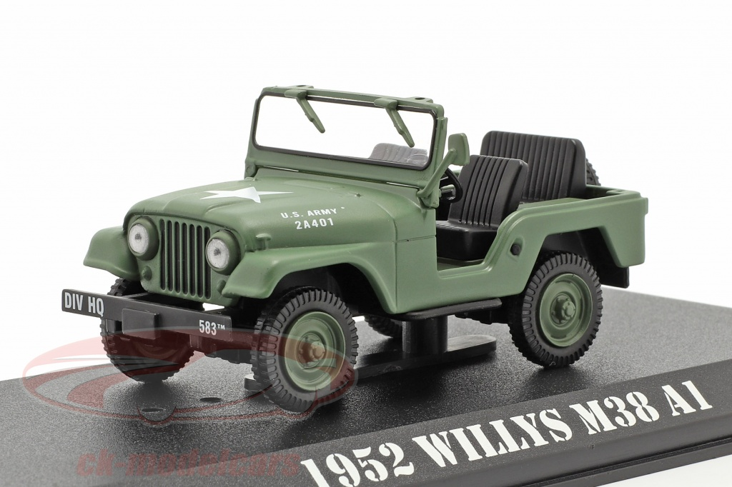 greenlight-1-43-jeep-willys-m38-a1-1952-series-de-television-mash-1972-83-aceituna-86590/