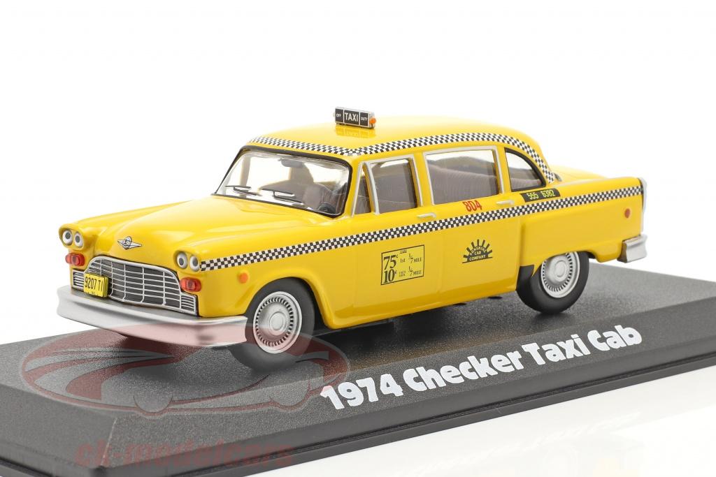greenlight-1-43-checker-taxi-cab-1974-series-de-tv-taxi-1978-83-amarelo-86601/