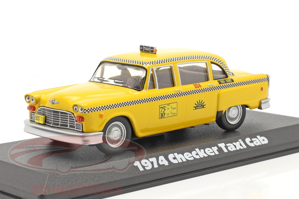 greenlight-1-43-checker-taxi-cab-1974-series-televisees-taxi-1978-83-jaune-86601/