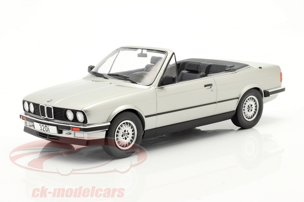 modelcar-group-1-18-bmw-3-series-e30-cabriolet-year-1985-silver-mcg18152/