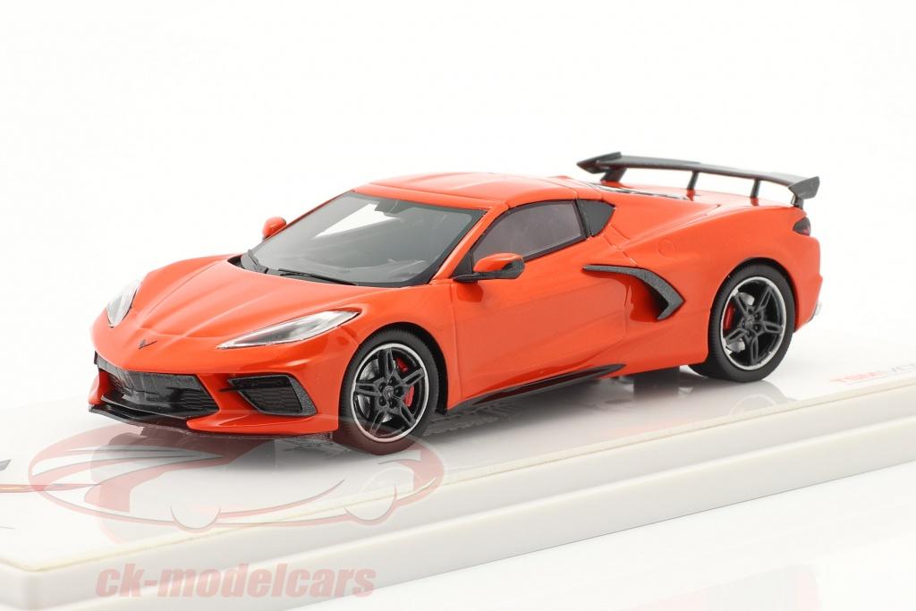 true-scale-1-43-chevrolet-corvette-c8-stingray-year-2020-orange-tsm430495/