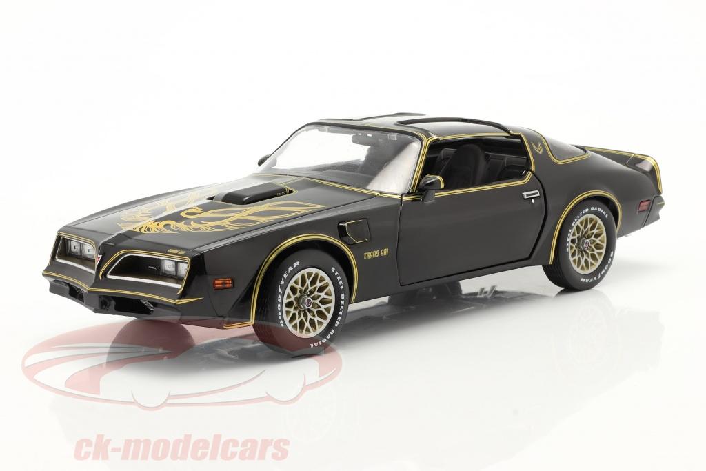 greenlight-1-18-pontiac-firebird-trans-am-year-1977-black-gold-19098/