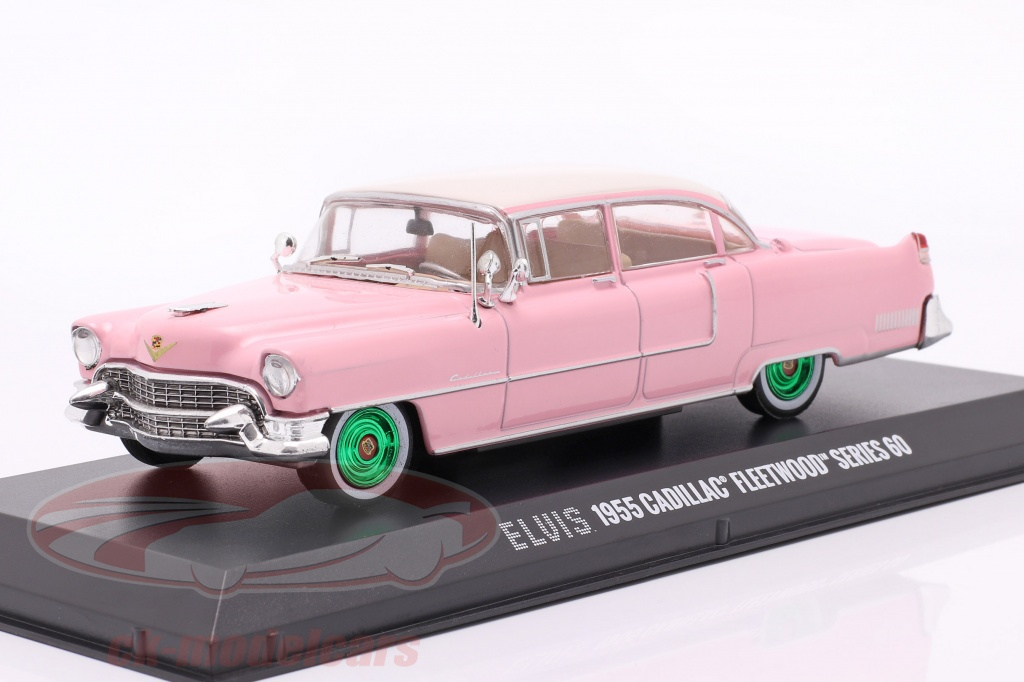greenlight-1-43-cadillac-fleetwood-series-60-elvis-presley-1955-rosado-blanco-verde-86491-gruene-version/