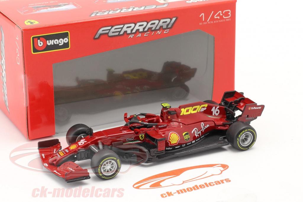 Bburago 1 43 C Leclerc Ferrari Sf1000 16 1000th Gp Ferrari Tuscany Gp F1 2020 18 36823lm Model Car 18 36823lm 4893993013753 4893993368235
