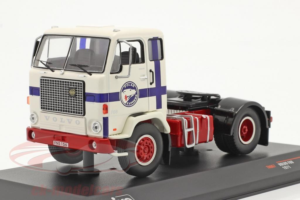 ixo-1-43-volvo-f88-polar-express-anno-di-costruzione-1971-bianca-rosso-blu-tr067/