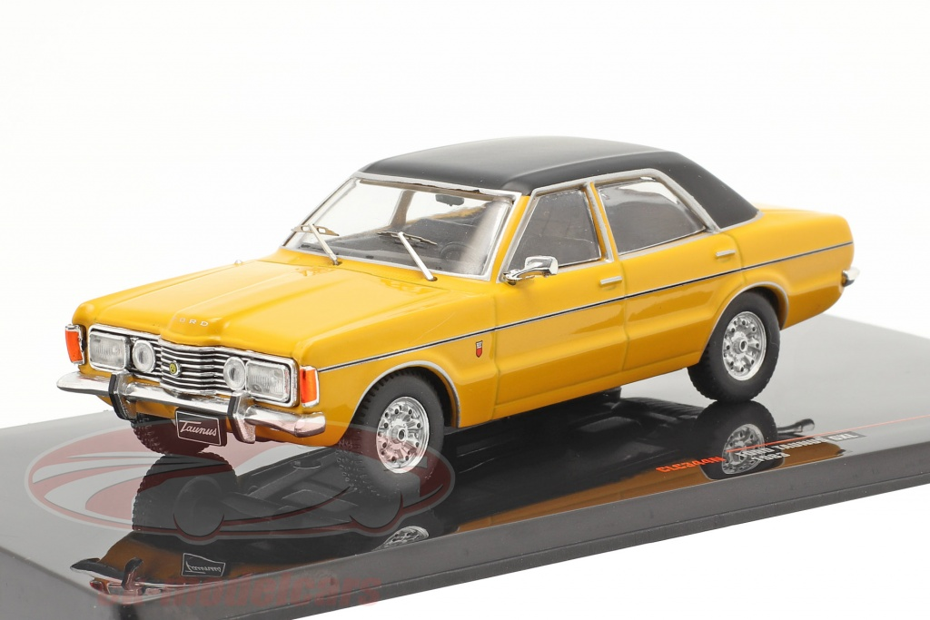 ixo-1-43-ford-taunus-gxl-bouwjaar-1983-geel-zwart-clc344n/