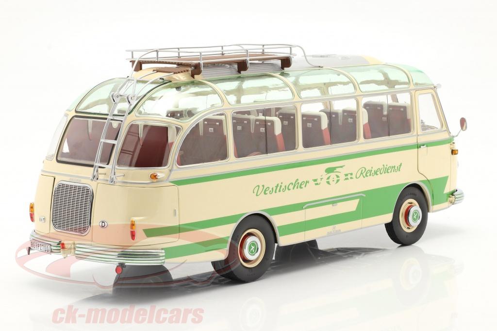 schuco-1-18-setra-s6-bus-vestischer-reisedienst-year-1954-63-beige-green-450034800/
