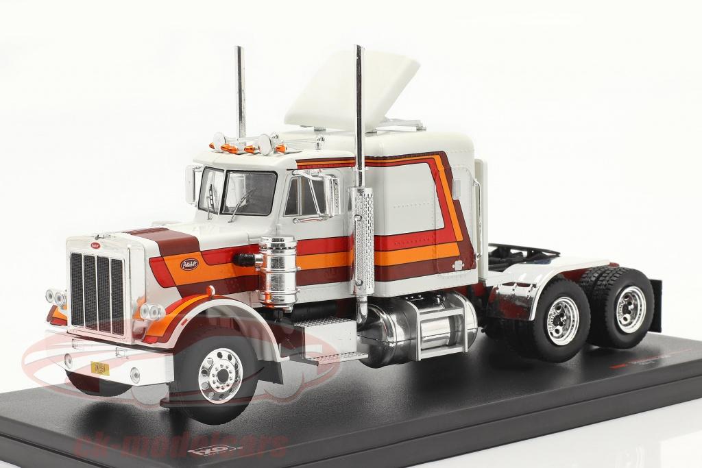 ixo-1-43-peterbilt-359-camion-anno-di-costruzione-1973-bianca-rosso-arancia-marrone-tr069/