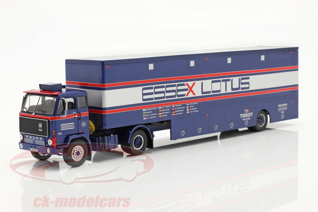 ixo-1-43-volvo-f89-race-car-transporter-essex-lotus-bl-slv-rd-ttr021/