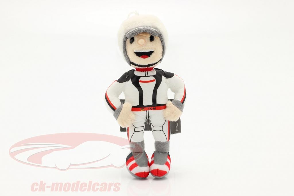 porsche-figurine-en-peluche-tom-targa-16-cm-blanc-noir-rouge-wap0400070mtom/