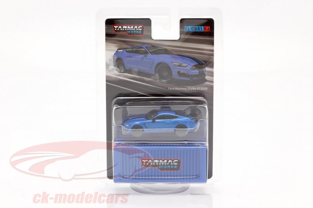 tarmac-works-1-64-ford-mustang-shelby-gt350r-blau-metallic-t64g-011-bl/