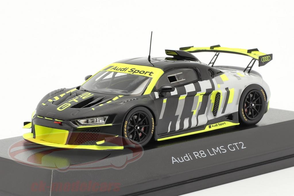 spark-1-43-audi-r8-lms-gt2-presentation-car-noir-grise-jaune-5022000231/