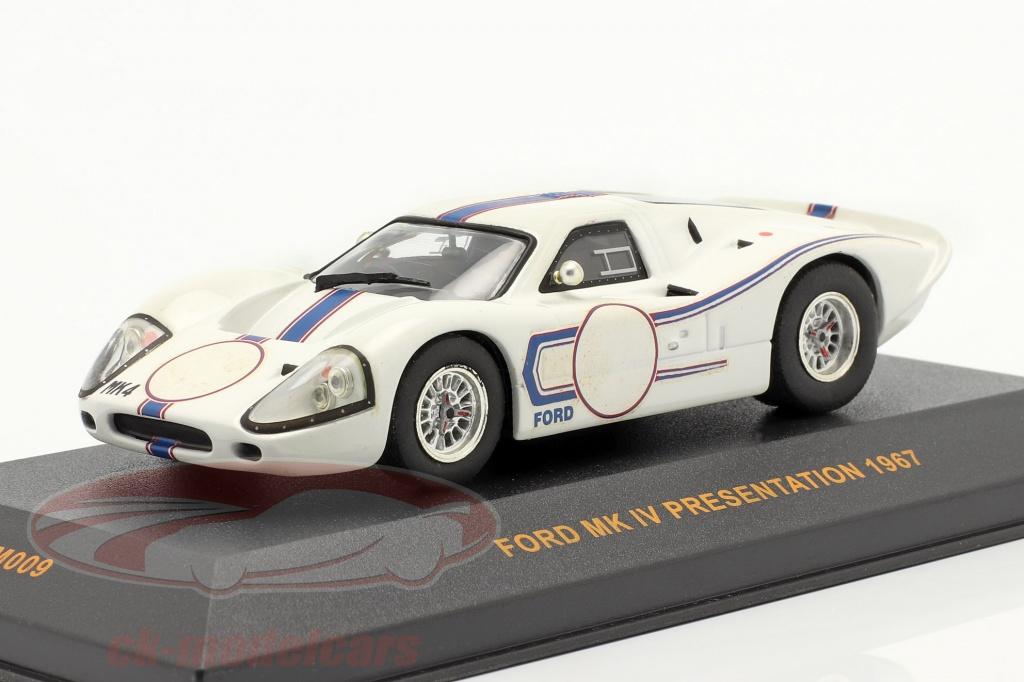 ixo-1-43-ford-mk-iv-presentation-ano-1967-blanco-azul-gtm009/
