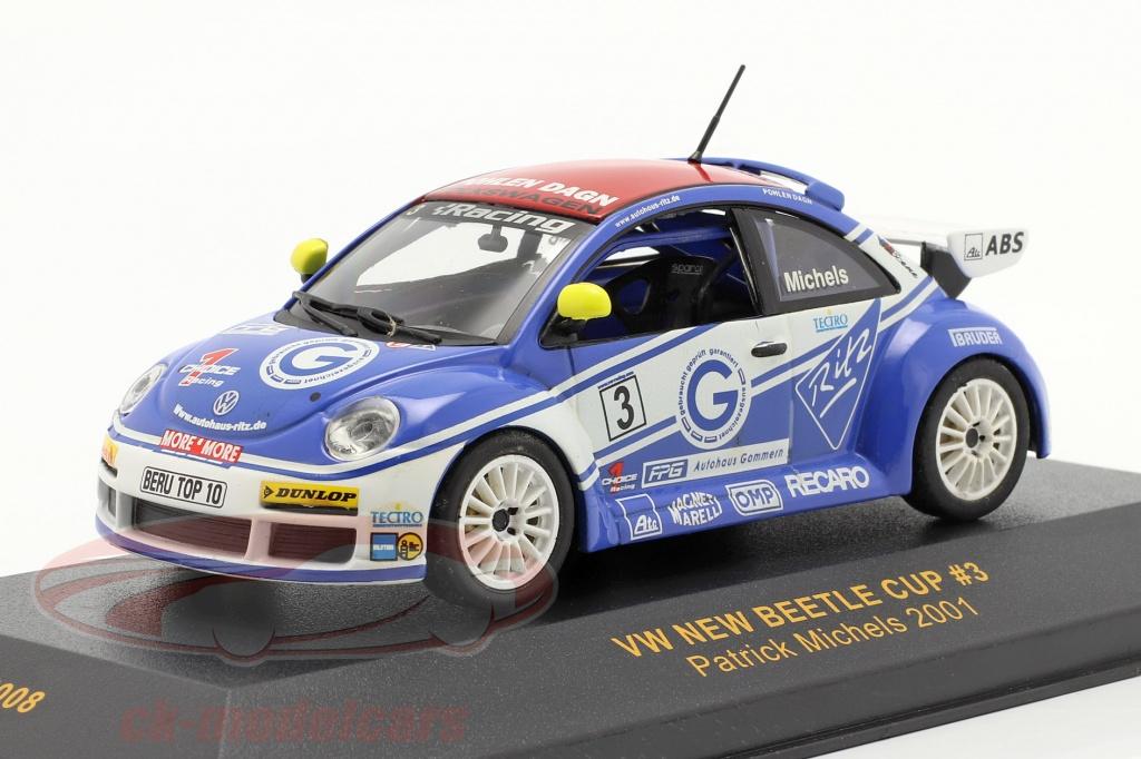 ixo-1-43-volkswagen-vw-beetle-no3-new-beetle-cup-2001-michels-gtm008/