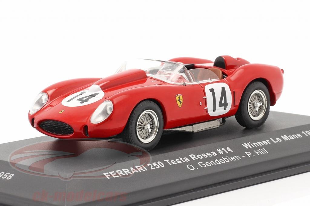 ixo-1-43-ferrari-250-testa-rossa-no14-gagnant-24h-lemans-1958-gendebien-hill-lm1958/