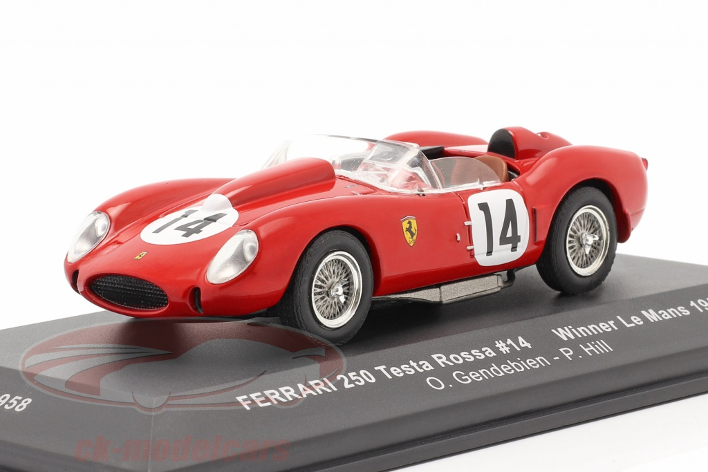 ixo-1-43-ferrari-250-testa-rossa-no14-vinder-24h-lemans-1958-gendebien-hill-lm1958/