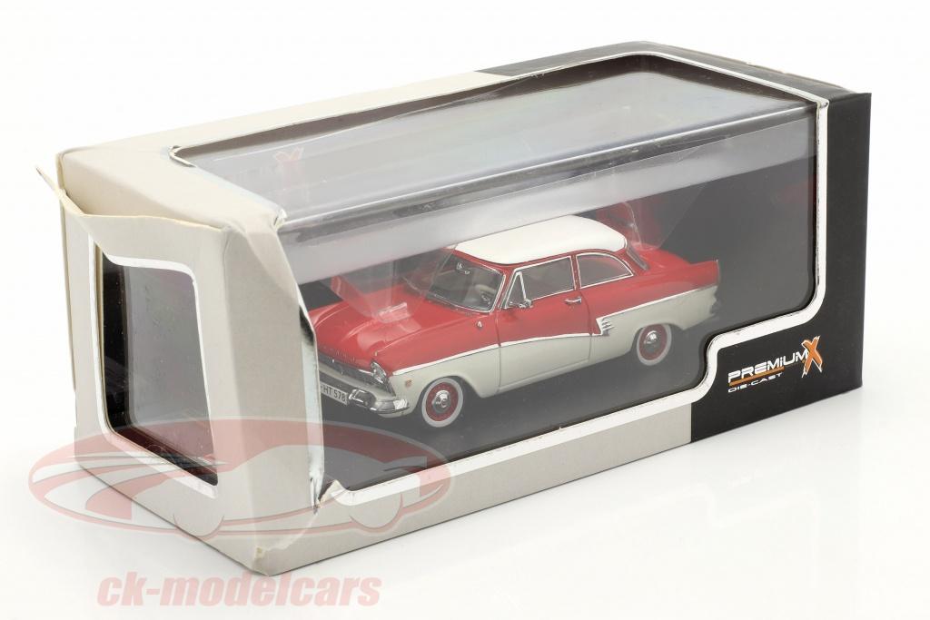 premium-x-1-43-ford-taunus-17m-jaar-1957-rood-wit-2e-keuze-ck66977-2-wahl/