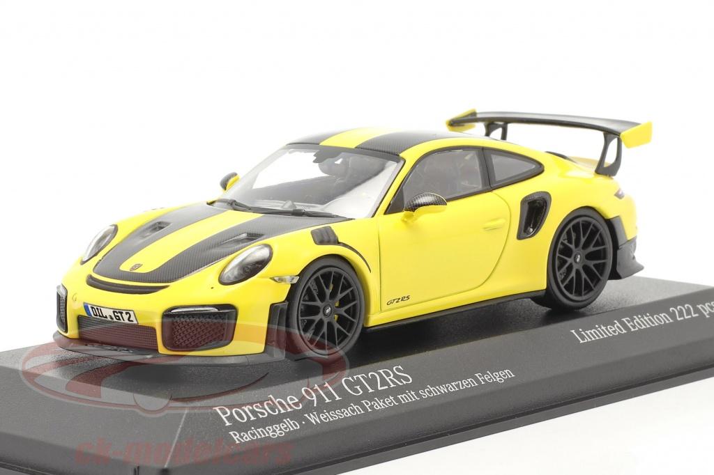 minichamps-1-43-porsche-911-991-ii-gt2-rs-weissach-paquete-2018-racing-amarillo-negro-llantas-413067228/