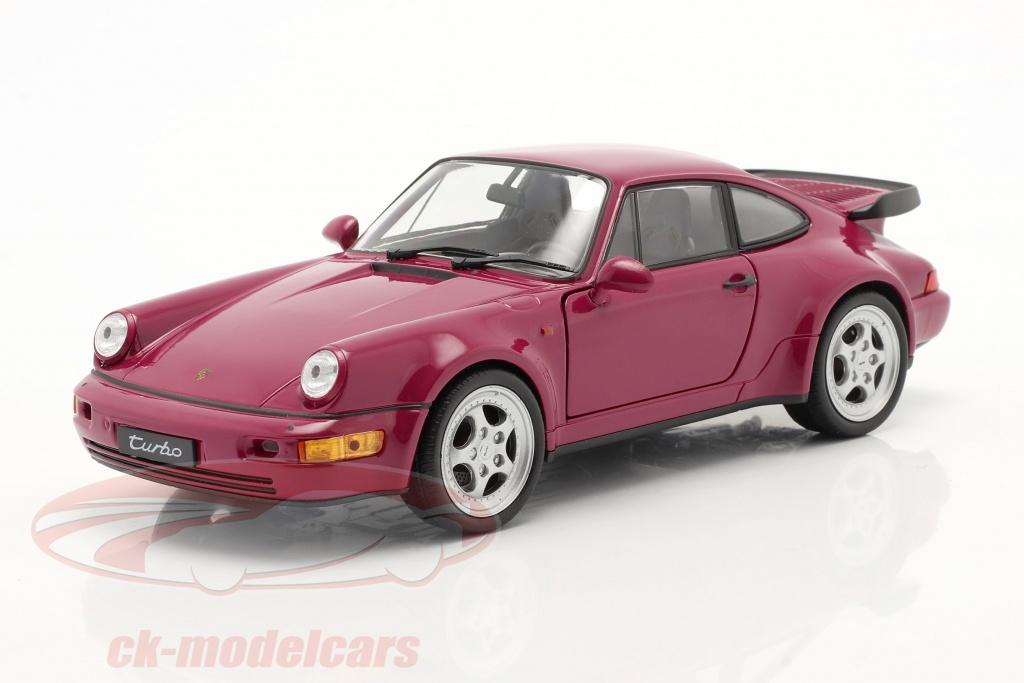 welly-1-24-porsche-911-964-turbo-jaar-1990-donkerroze-map02493616/