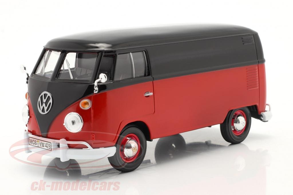 motormax-1-24-volkswagen-vw-type-2-van-rouge-noir-79342/