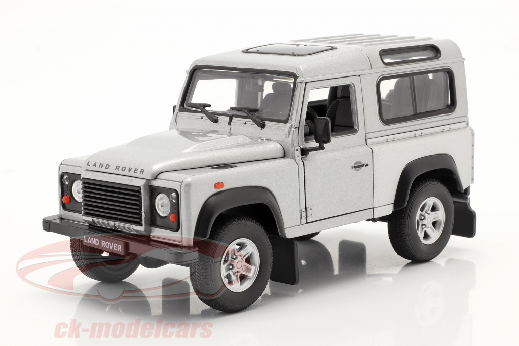 welly-1-24-land-rover-defender-silver-22498/