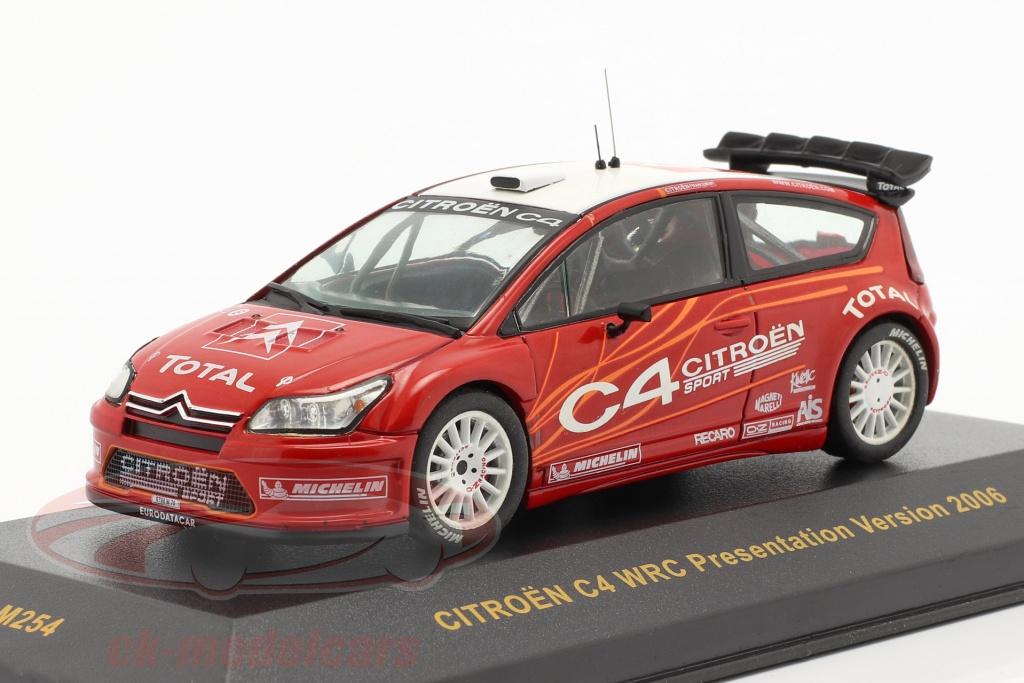 ixo-1-43-citroen-c4-wrc-presentation-voiture-dno39essai-2006-rouge-blanc-ram254/