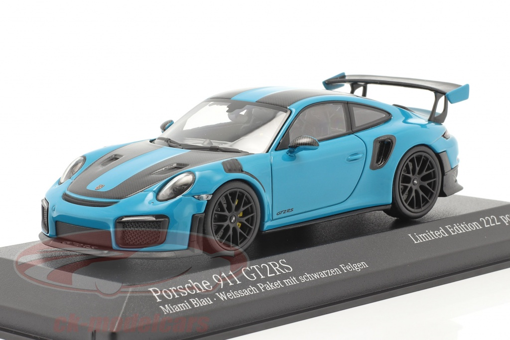 minichamps-1-43-porsche-911-991-ii-gt2-rs-weissach-package-2018-miami-blu-nero-cerchi-413067234/