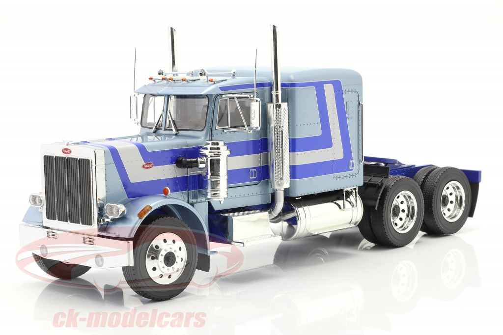 road-kings-1-18-peterbilt-359-bull-nose-lastbil-1967-lysebl-metallisk-rk180084/