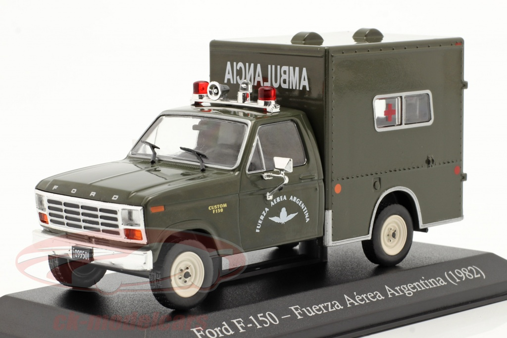 altaya-1-43-ford-f-150-militaire-ambulance-argentini-bouwjaar-1982-donkere-olijf-magser13/