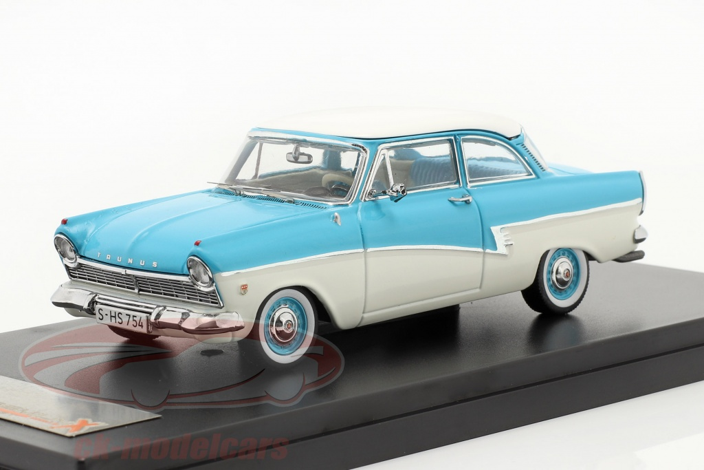 premium-x-1-43-ford-taunus-17m-year-1957-blue-white-prd388/