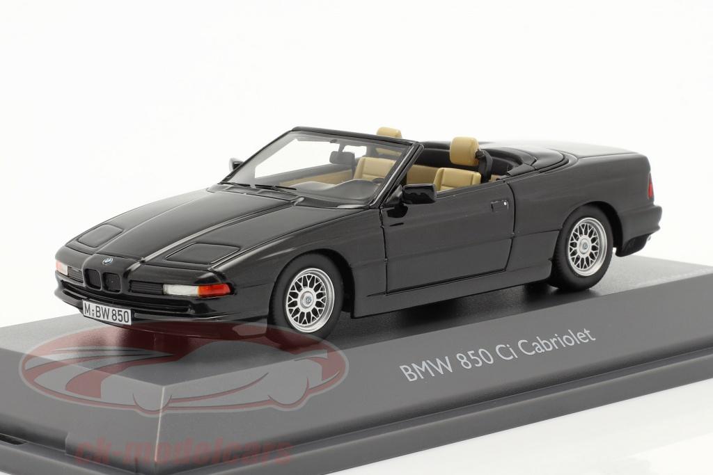 schuco-1-43-bmw-850-ci-cabriolet-e31-sort-450914900/